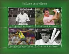 Congo 2018 MNH Babe Ruth Usain Bolt 4v M/S Golf Baseball Athletics Sports Stamps