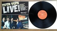The four Tops Live! 1968. Dutch. Tamla-Motown MTM S-3004. LP NM. Sleeve EX
