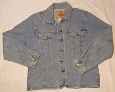 NORTHWEST TERRITORYJEAN JACKET Womens Warm Cotton Denim Size L LARGE Blue Coat
