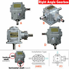 2/3 Shaft 15mm Right Angle Gearbox Reducer Transmission Ratio 1:1 2:1,DHL