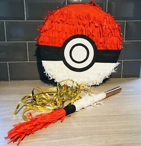 Pokeball Piñata & Wooden Piñata Stick