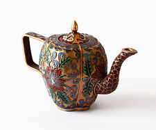 Vaso Brocca Cloisonnè Rame Cinese Oriental Ancient Old Antique Vase Cina H.8cm