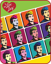 """Pop Art"""" Officially Licensed I Love Lucy Medium Weight Faux FurTM Blanket"""