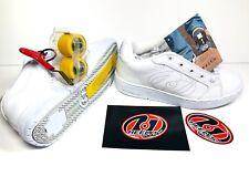 HEELYS Bliss 2 Wheel Shoes Sneakers Girls Kids White Silver Skateboard 7143