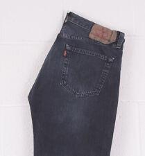 Vintage LEVI'S 501 Navy Blue Straight Fit Men's Jeans 34W 32L 34/32 /BC033
