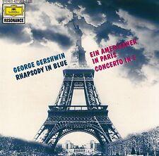 GERSHWIN : RHAPSODY IN BLUE - CONCERTO IN F - EIN AMERIKANER IN PARIS / CD
