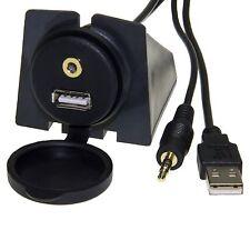 USB 2 PRESA USB E AUX IN JACK 3,5 DA PANNELLO PROLUNGA PER MONITOR E AUTORADIO