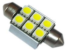 1 Ampoule orange 31 mm C5W C10W Navette 6 leds 5050 SMD anti-erreur ODB