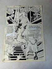 HOUSE OF MYSTERY #216 original comic art SPLASH TITLE roller skate CANNED DEATH