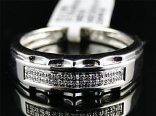 White Gold Finish Mens Round Diamond Pave Set Engagement Wedding Band Ring 5.5MM