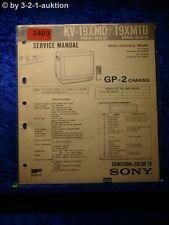 Sony Service Manual KV 19XMD / 19 XMTD Color TV (#3403)