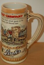 """The Stroh's Brewing Company Heritage II 7 1/2"""" Beer Stein by Ceramarte Brazil"""