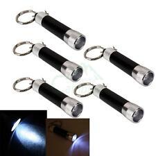 5pcs Waterproof White LED Flashlight Torch Key Ring Keychain Light with Battery