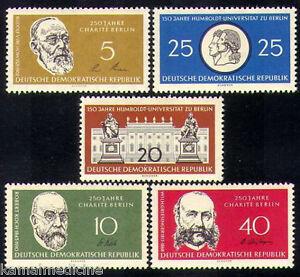 Germany 1960 MNH 5v, Humboldt University, Dr. Koch, Nobel Medicine