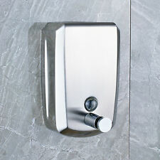 Chrome Wall Mount Liquid Soap Dispenser 500ml Shampoo Body Wash Box Holder New