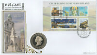 Benham 1997 Victoria Medallion 2008 Celebrating Northern Ireland Miniature Sheet