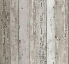 Papel pintado malla madera-Optik tablones vintage marrón beige P + s 02361-20 (2,24 €/1qm)