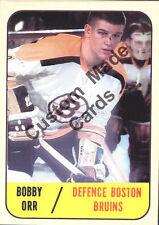 Custom made Topps 1967-68 Boston Bruins Bobby Orr white  Hockey  card