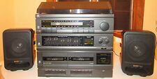 General Electric GE-Model#4020A Bookshelf Stereo WORKING DUAL-CASSETTE TURNTABLE