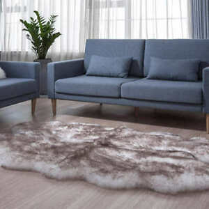 "Windward Quad Australian Sheepskin Rug 100% Natural Woolmark Brown 73""x43"""