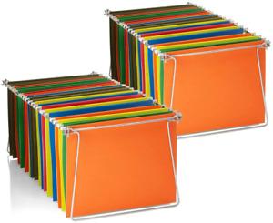 "Hanging File Frames, Letter Size, Rails fits 24"" to 27"", Files Cabinet, Steel, 2"