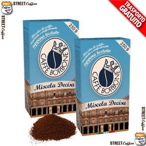 24 Confezioni 24 Buste da 250gr Caffè Borbone Miscela Deciso Macinato Polvere*