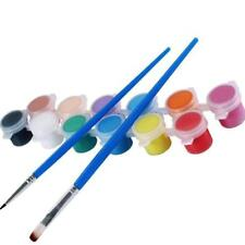 12 Colors With 2 Paint Blue Brushes Per Set Acrylic Paints For Oil Painting HOT