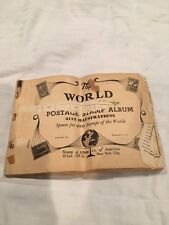 Postage Stamp Album! Most 1920's-1930's Over 111 Worldwide Stamps! Rare