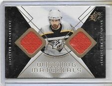 PETER FORSBERG 2007-08 SPx WINNING MATERIALS DUAL GAME USED JERSEYS