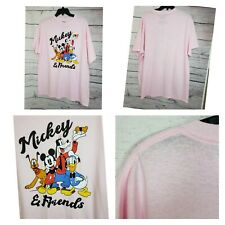 Mickey And Friends Pink Men XL T Shirt