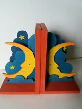 Wooden bookends - Moon