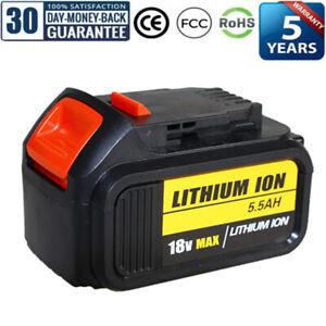 1X 18V 5.5Ah Battery Li-Ion for Dewalt DCB184 XR Slide DCB182 DCF885 DCC785 NEW