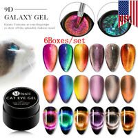 MTSSII 6Boxes/set 5ml 9D Magnetic Cat Eye Nail UV Gel Polish Soak Off Varnish