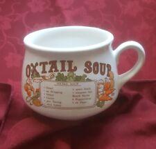 Vintage Retro Ceramic Soup Mug oxtail Soup  Recipe Bowl free uk p&p
