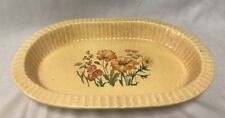 Vintage Wildflower Treasure Craft Pottery Casserole/Serving Dish Oven Microwave