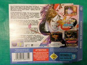 Jaquette arrière CAPCOM Vs SNK pour SEGA Dreamcast PAL FR
