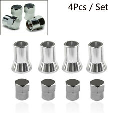 4x Plastic Tpms Tire Valve Stem Cap With Sleeve Cover Chrome American Car Truck