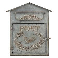 Nostalgischer Briefkasten 36x12x32cm Metall Zink Wandbriefkasten Clayre & Eef