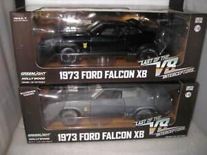 2 X GREENLIGHT 1/18 MAD MAX ROAD WARRIOR FORD FALCON V8 INTERCEPTOR 1 WEATHERED