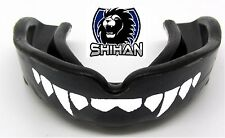 VAMPIRE 'FANGS' BLACK Boxing Gum Shield Rubgy MMA Mouth Guard - Senior