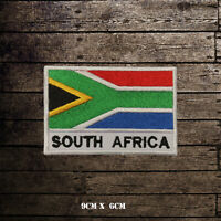 SOUTH AFRICA Flag With Name Embroidered Iron On Sew On Patch Badge