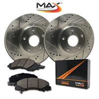 [Front] Rotors w/Ceramic Pads Premium Brakes 2010 2011 2012 2013 Sprinter 2500