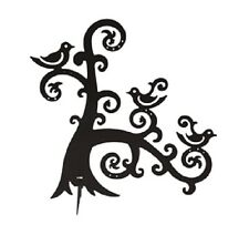 BLACK METAL JEWELLERY & EARRING TREE HOLDER STAND DISPLAY BIRDS ON BRANCH