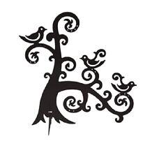 BLACK METAL JEWELLERY & EARRING TREE HOLDER STAND DISPLAY BIRDS ON BRANCH
