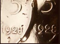 ERRORE DIFETTO DI CONIO ZECCA 5 centesimi 1928 - NON CATALOGATA AL CACCURI BUFFA