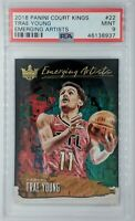 2018 Panini Court Kings Emerging Artists Trae Young Rookie RC #22, Graded PSA 9