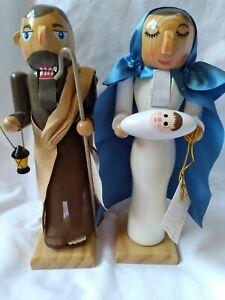 Mary Joseph Baby Jesus Wooden Nutcracker Set Limited Edition Numbered Nativity