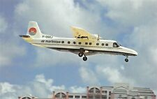 AIR MARTINIQUE Dornier 228-202 F-OGOJ MSN 8136 Saint Martins  Airplane Postcard