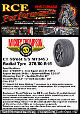 MT3453 MICKEY THOMPSON ET STREET S/S RADIAL TYRE 275/60-R15 NEW