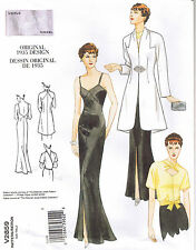 Vtg 30s Retro Formal Evening Dress Gown Jacket Wrap Top Sewing Pattern Sz 6 8 10